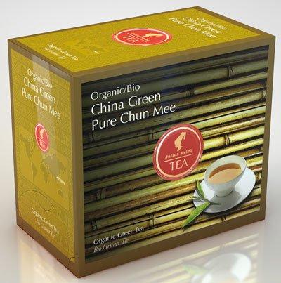 Julius Meinl BIO China Green Pure Chun Mee Big Bag (1 Teebeutel für ca. 1 lt. Wasser), Bio Grüner Tee - 20Beutel - 2x