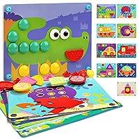 Nene Toys - Kinderholz-Puzzle 8 in 1 - Lernspielzeug für Jungen Mädchen 2 3 4 Jahre – Kinderspielzeug mit 3D-Mosaiken und 8 Puzzle-Designs - Kognitive Entwicklung fördernde Montessoripädagogik