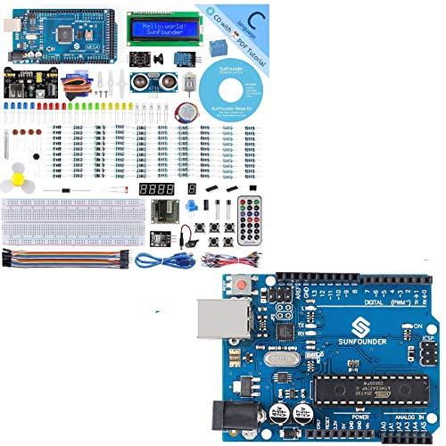 SunFounder Mega 2560 R3 Project Super Starter Kit with Mega 2560 Board for Arduino with R3 Board for Arduino ATMEGA328P ATMEGA16U2