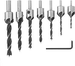 Muye 7PCS Countersink Drill Bits For Woodworking 3-10mm HSS Drill Bits Reamer Set Chamfering Tool 1/8