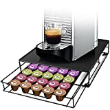 Diealles Shine Cajón para Almacenar Cápsulas, Cajón de Cápsulas Porta Capsulas Nespresso Dispensador Capsulas para 30 Cápsulas, Negro