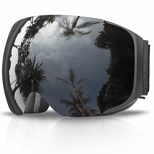 eDriveTech Occhiali da Sci da Donna&Uomo, Occhiali da Snowboard Adulto Ragazzo Ragazza Antinebbia Con Sistema di scambio Magnetico Occhiale Maschere da Sci Anti-UV OTG Magnetica Sferica Lente