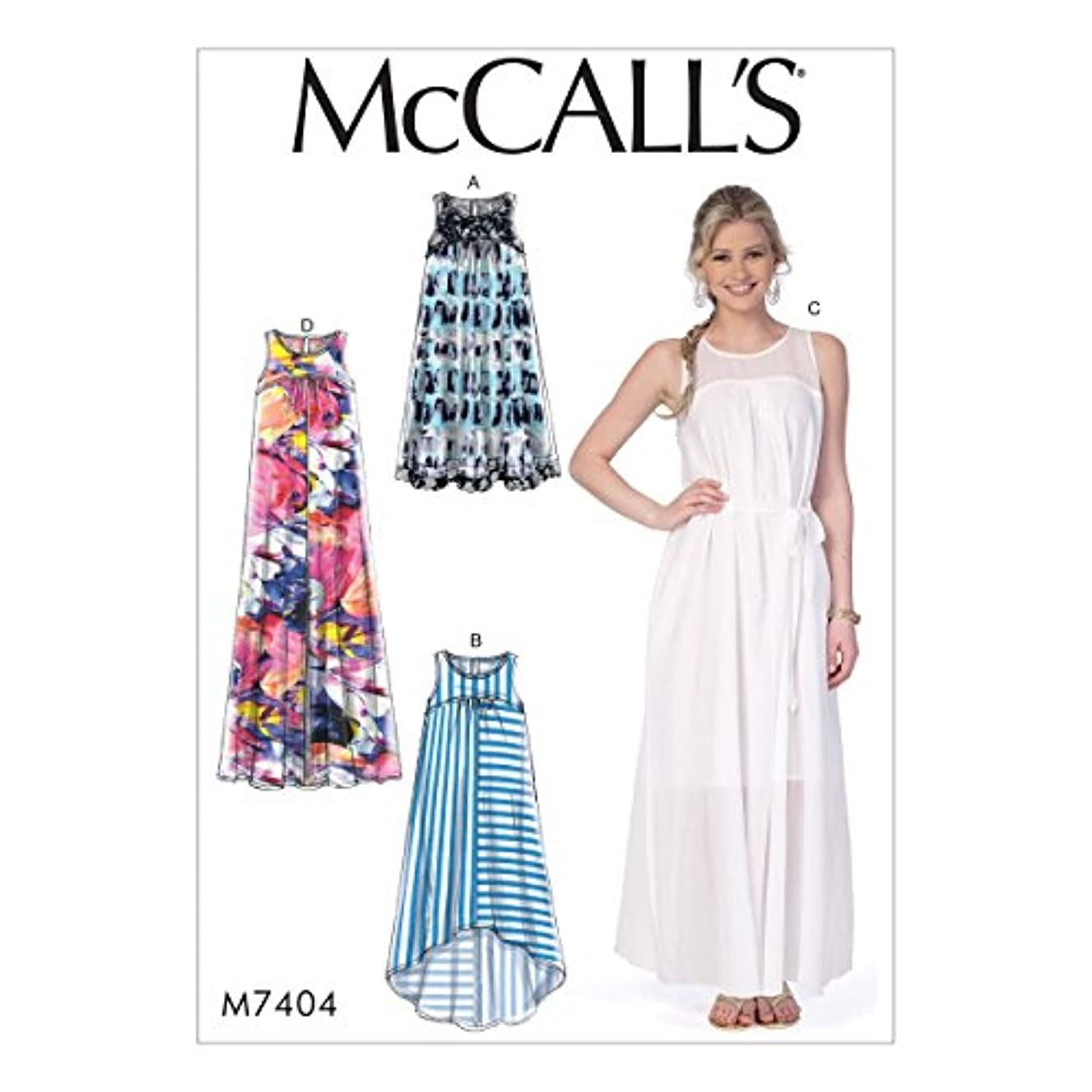 McCall's Patterns M74040Y0 Misses' Dresses and Belt Sewing Pattern, 4-6-8-10-12-14
