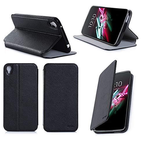 Alcatel Onetouch IDOL 3 4.7 zoll 4G/LTE Dual Sim Tasche Leder Hülle schwarz Cover mit Stand - Zubehör Etui Alcatel Idol 3 4.7 Flip Case Schutzhülle (PU Leder, Handytasche schwarz black) - XEPTIO accessories