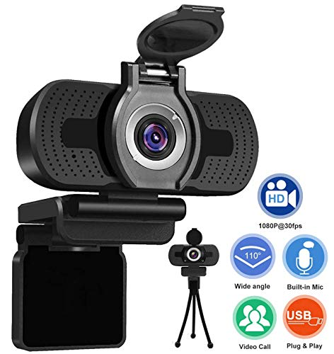Xinidc Full 1080P HD Webcam Built-in Microphone Camera