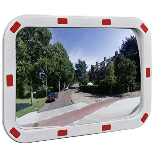 vidaXL Specchio traffico convesso rettangolare 40 x 60 cm con catarifrangenti