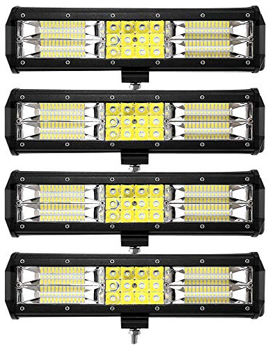 Leetop 4X 180W LED Arbeitsscheinwerfer Off-Road Scheinwerfer Bar Fernlicht 12V-24V Reflektor Lampen IP67 Wasserdicht Zusatzscheinwerfer Flutlicht für Auto Jeep Traktor SUV
