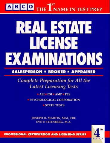 Real Estate License Examinations/Salesperson, Broker, Appraiser: Professional Certification and Licensing (Professional Certification and Licensing Series)