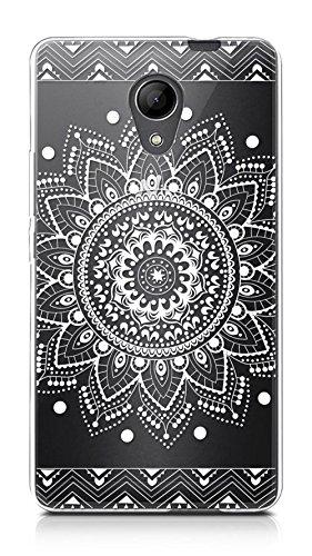 Sunrive Für Wiko Robby Hülle Silikon, Transparent Handyhülle Schutzhülle Etui Hülle Backcover für Wiko Robby(TPU Blume Weiße)+Gratis Universal Eingabestift