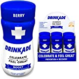 DrinkAde Boost (6 Pack) Hydration & Recovery Drink with Caffeine, Electrolytes, Vitamin B, Milk...