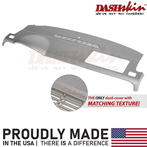 DashSkin Molded Dash Cover Compatible with 07-14 GM SUVs w/o Dash Speaker in Dark Titanium (USA Made)