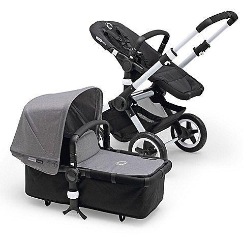 Sale!! Bugaboo Buffalo Stroller with Grey Melange Fabric (Silver Frame)