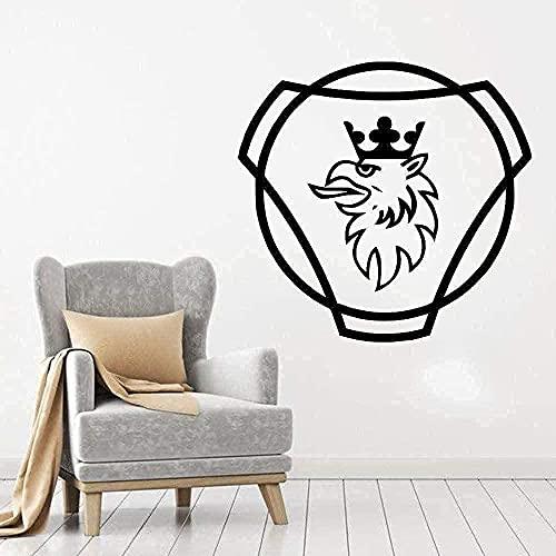 Adhesivo de pared Arte Pegatinas de pared y arte de pared Pintor de pared Dormitorio Arte de pared Diy Curva 57X54Cm