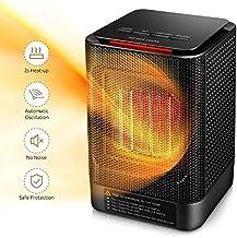 YAUUYA Calefactor Eléctrico Portátil Calentador 950W/450W Calefactor de Aire Caliente Termoventiladores de Ventilador de Cerámica de PTC Oficina y Hogar Protección del Sobrecalentamiento