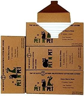 PET N PET Cat Litter Box Liners XLarge Drawstring Cat Litter Bags for Pans 7 Counts