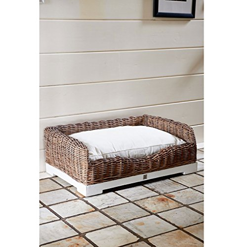 Rivièra Maison Panier pour chien en rotin Slimit Taille L 52 x 27 x 68 cm