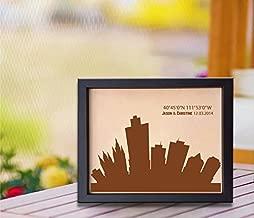 Lik302 Leather Engraved Wedding Third Anniversary Salt Lake City Longitude Latitude Personalized Gift Place Wedding Date Wedding