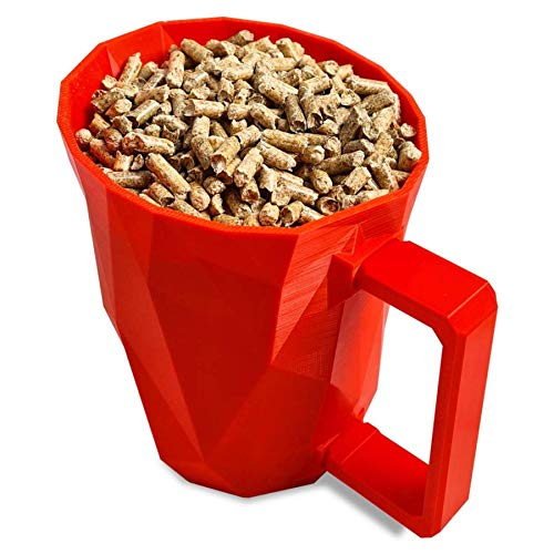 GranuleBox - Pala de pellet para pellet - Pala para granulados 100% biodegradable - Impresa en 3D - Fabricada en Francia... (rojo)