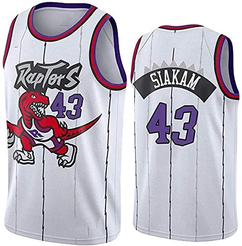 ASKI Jersey Toronto Raptors # 7# 23# 43 Jersey, Camiseta de Baloncesto Unisex, Chaleco Bordado de Malla Transpirable, Blanco 7, s, White 43-3XL