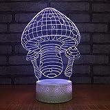 KangYD Casa de la seta de la historieta de la luz de la noche 3D, lámpara de la ilusión óptica del LED, G - Control de Telefonía Móvil, Lámpara infantil, Lámpara de decoración de oficina
