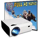 Proyector 1080p Nativo, Silencioso, 6.000 Lúmenes, Portatil, Contraste 10.000:1 ,Fullhd Nativo, Cine en Casa 100', USB...