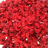 Ventdest 3200 Piezas Pétalos de Rosa Artificial Rojos para el día de San Valentín y Ambiente Romántico, Proponer, Flores de Boda, Confeti, dispersión de Mesa