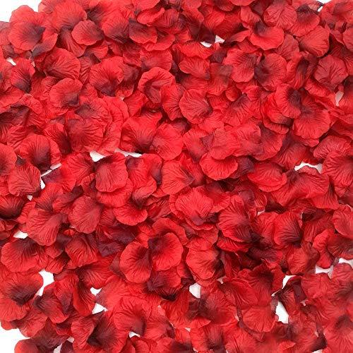 Ventdest 3200 Piezas Pétalos de Rosa Artificial Rojos para el día de...
