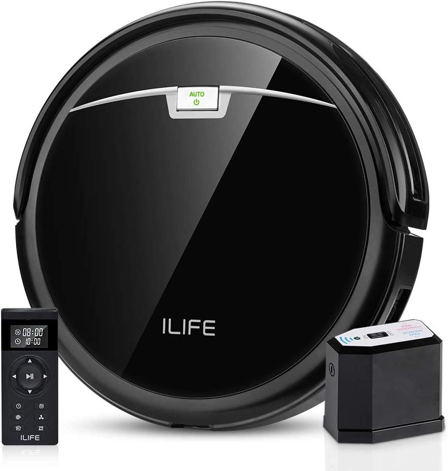 ILIFE A4s Pro Robot Vacuum, 2000Pa Max Suction, ElectroWall, Remote Control, Slim, Thin, Quiet, Self-Charging, Smart, Ideal for Hard Floor to Medium Carpet, Black