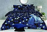 Set di biancheria da letto con copripiumino stampato, di alta qualità, colore: grigio, Pebbels Grigio, Super King