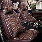 Rzj-njw Coprisedili per Auto in Seta di Ghiaccio per Toyota Corolla CHR Auris Wish Aygo Prius Avensis Camry 40 50 Accessori per Auto Coprisedili,D
