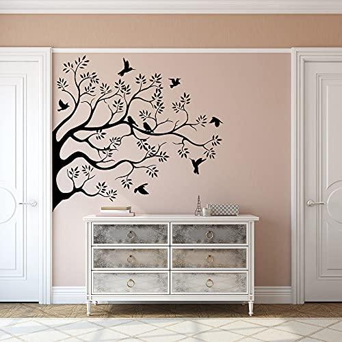 Flock Of Birds on Branch - Wall Stickers Art Decor Decal Vinyl Plaster...