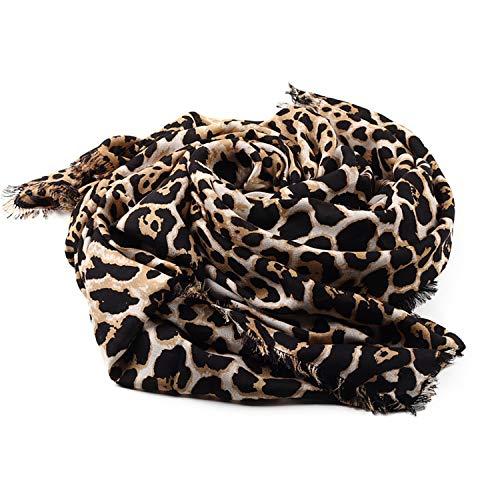 Fascigirl Chal de La Bufanda, Calentador de Cuello PañUelo Estampado Leopardo Bufanda de Invierno para Mujer