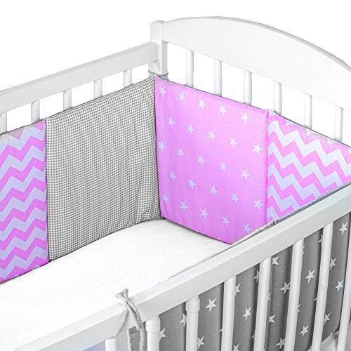 paracolpi lettino neonato patchwork - paracolpi culla lettino pali