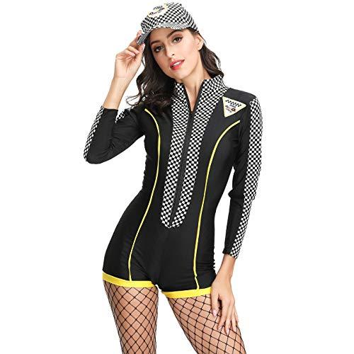 Traje de disfraces de Halloween para mujer modelo de ropa de carreras chica motocicleta mono rendimiento de la etapa ropa sexy fútbol bebé porrista traje,free