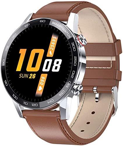 JSL Smartwatch - Monitor de ritmo cardíaco para hombre, rastreador de actividad de pantalla táctil de 1,3 pulgadas, IP68