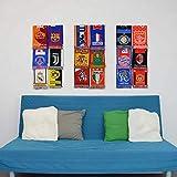 Estante de exhibición de bufandas deportivas - Soporte de exhibición de bufandas de fútbol (módulo triple)