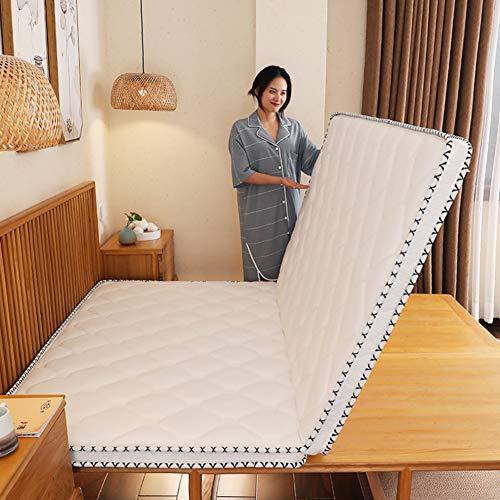 Hotel Thicken Folding Mattress, 3e Coconut Palm Mattress Pad Orthopedic Coir Sleeping Mat Firm Feel Quiet Tatami Guest Bed-6cm Full