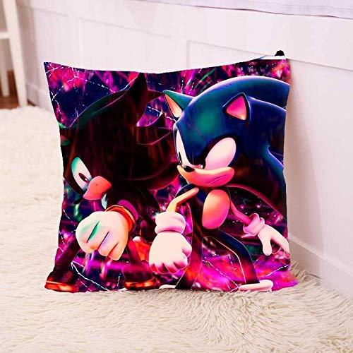 Sonic Almohada Sonic the Hedgehog Almohada cuadrada Almohada Cojín de asiento periférico Sonic Kid Supersonic Mouse Nap Doll Doll