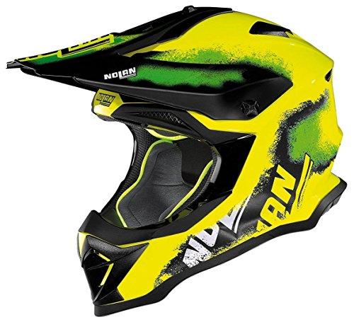 Casco Nolan N53Lazy Boy Hi Vis MX, colore LED giallo, taglia M (57/58)