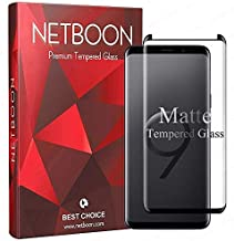 NETBOON® Matte Finish Anti-Glare & Anti-Fingerprint 3D Tempered Glass Case Friendly Gorilla Screen Protector for Samsung Galaxy S9 - Black