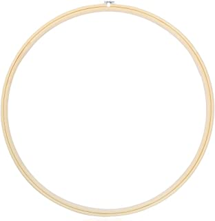 Caydo 23 Inch Large Size Embroidery Hoops Wooden Round Adjustable Bamboo Circle Cross Stitch Hoop Ring for Art Craft Handy Sewing