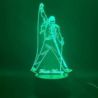 3D Led Night Light Lamp British Singer Freddie Mercury Figure Nightlight for Office Home Decoration Best Fans Gift ping FFFPANDA