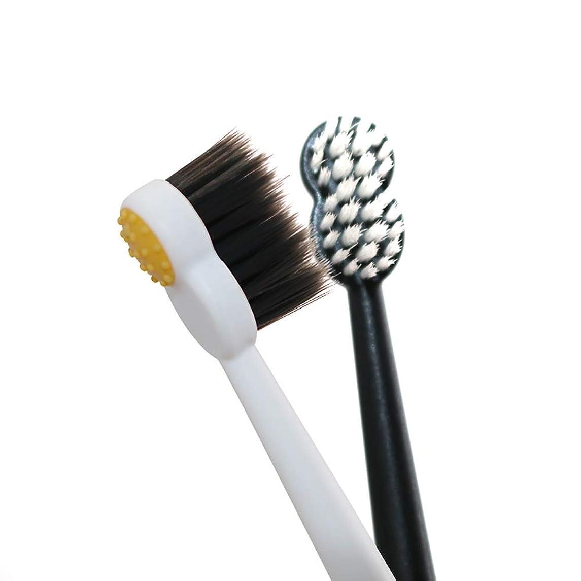 振動させる流行しているマディソン歯ブラシ 8 Wordの小さなブラシヘッド歯ブラシ、大人竹炭歯ブラシは、敏感な歯を向上 - 6パック KHL (サイズ : 6 packs)