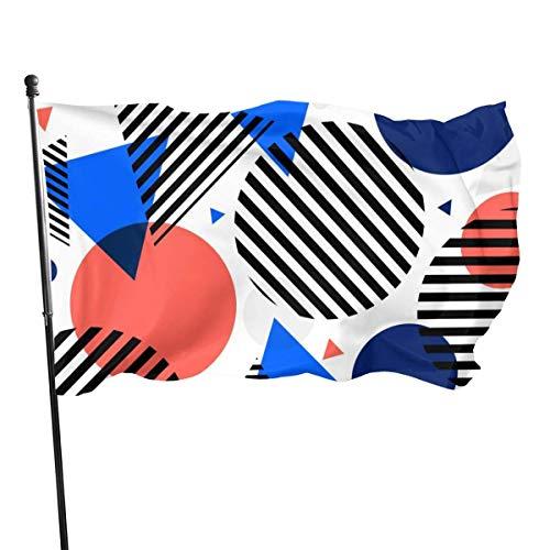 Cy-ril Linie Dreieck Kreis Fly Breeze 3X5 Fuß Polyester Flagge, verblassen beständig dauerhafte Gartenflagge
