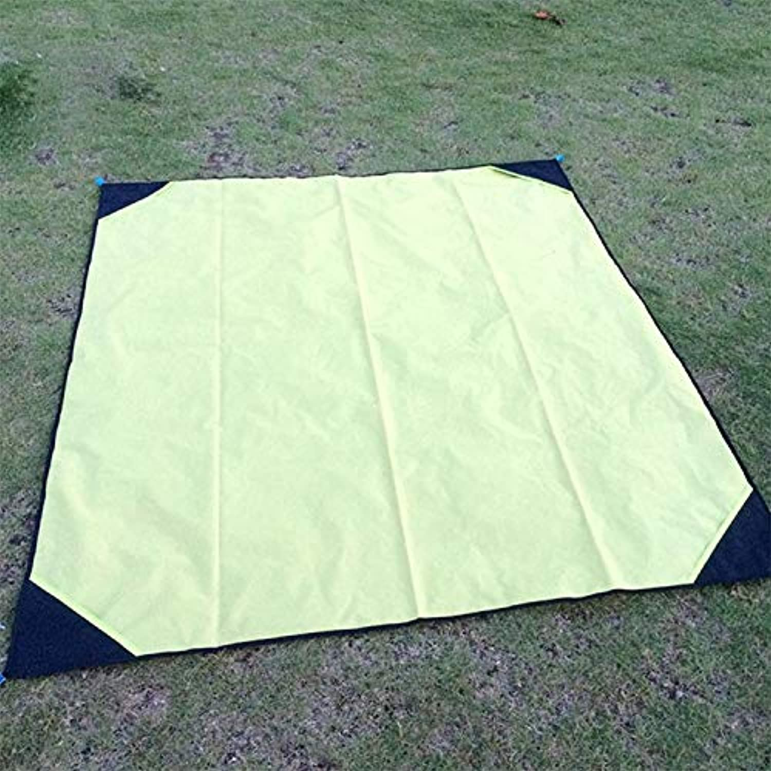 Outdoor Camping Mat Portable Outdoor Waterproof MoistureProof Camping Mat Foldable Lawn Mat, Size  140 x 180cm (orange) (color   Yellow)