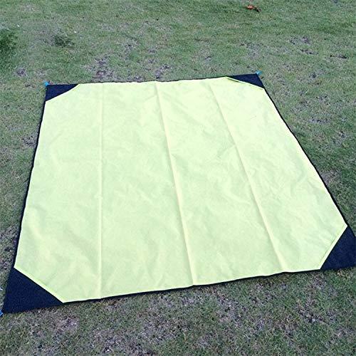 huihui Isomatte bewegliche im Freien wasserdichte Feuchtigkeit-Beweis Isomatte Faltbare Rasen Mat Größe: 140 x 180cm (Color : Yellow)