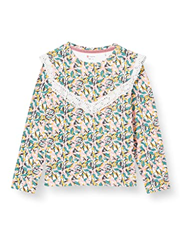 Noppies G tee LS Lillibet Camiseta, Snow White-P098, 140 para Niñas