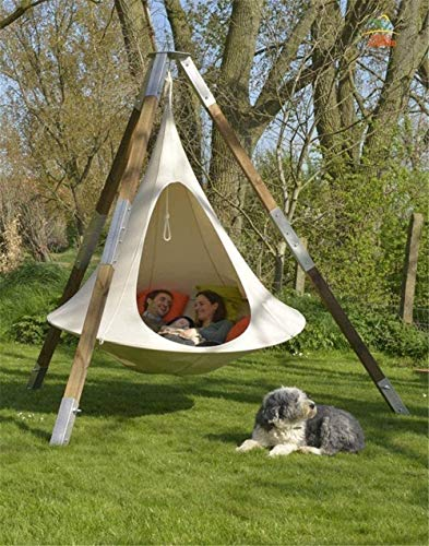 HUWQX Camping Teepee Tree Silk Worm Cocoon Swing Hanging Chair Indoor Outdoor Hammock Tent Patio Hanging Double Villa Sofa Tent