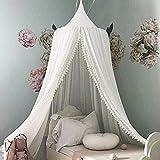 COCD Baby Baldachin Betthimmel Kinder Bett Chiffion Hängende Moskiton für Schlafzimmer Höhe 240 cm fürs Weihnachts geschenk - 7