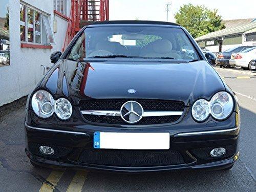 AMG Mercedes CLK Lamellen Grill Schwarz 209031